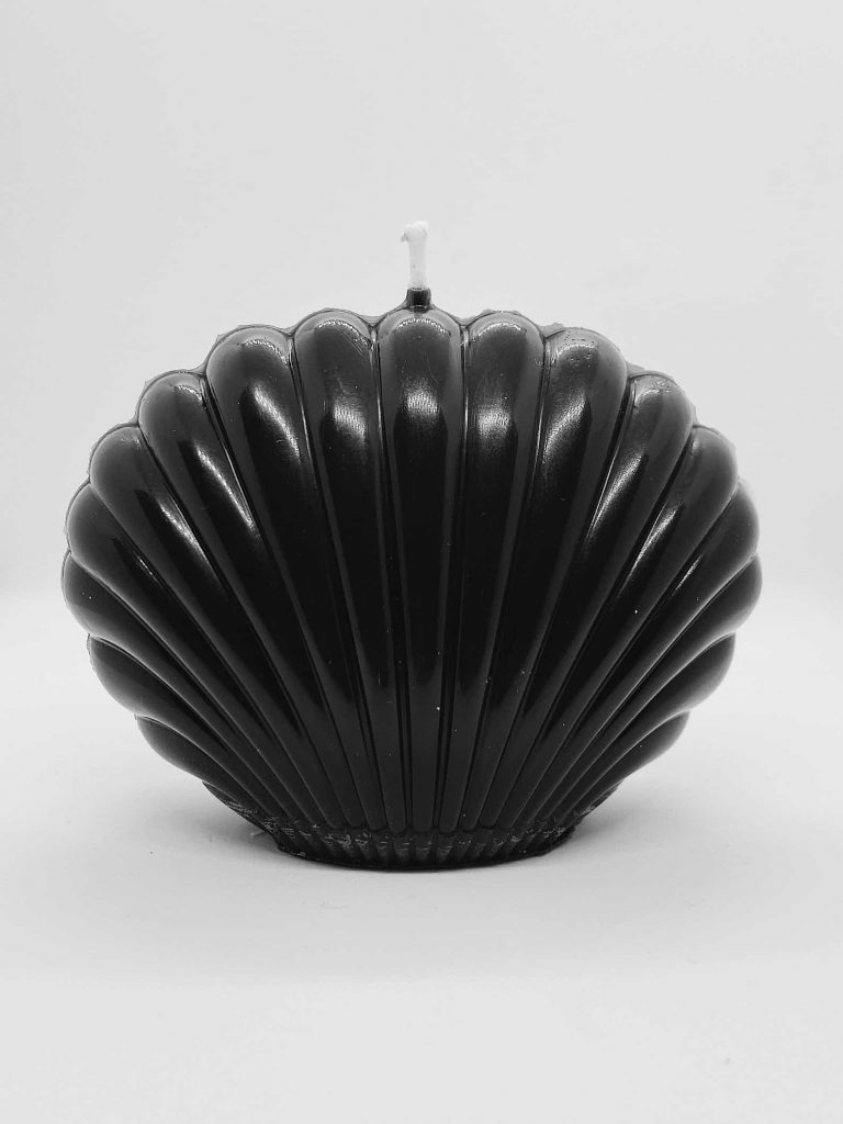 Cool and Unique shaped candles |  Black and multicoloured Seashells