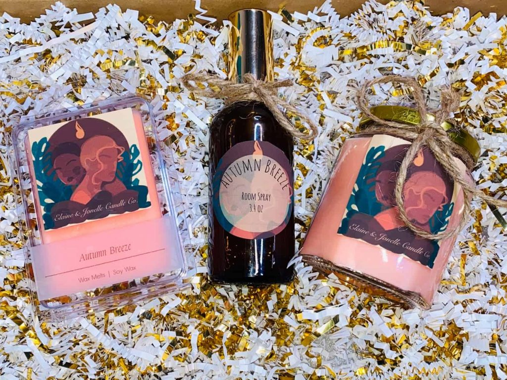 Black Owned Scented Soy Candles, Soy Wax Melts, and Air spray gift box