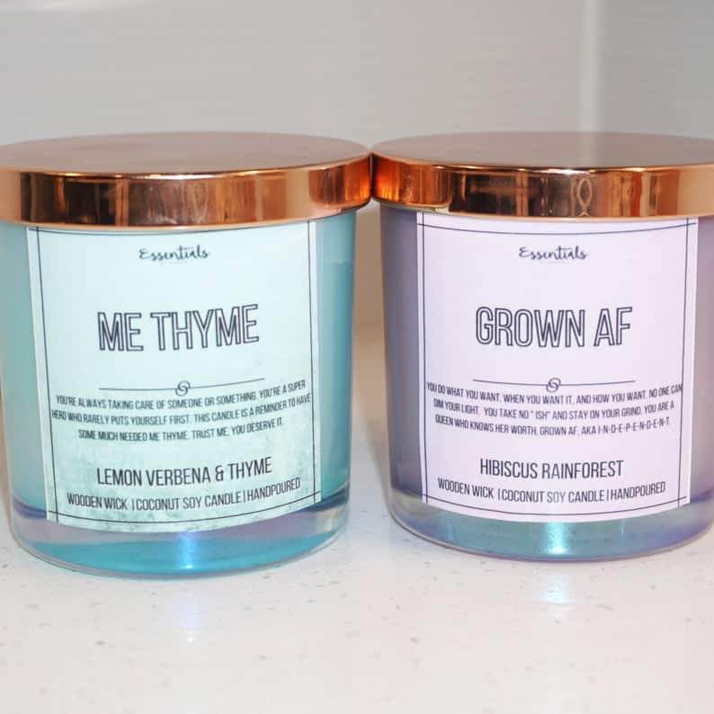 Black-owned motivational and affirmation candles | EssentialsbyEmerie