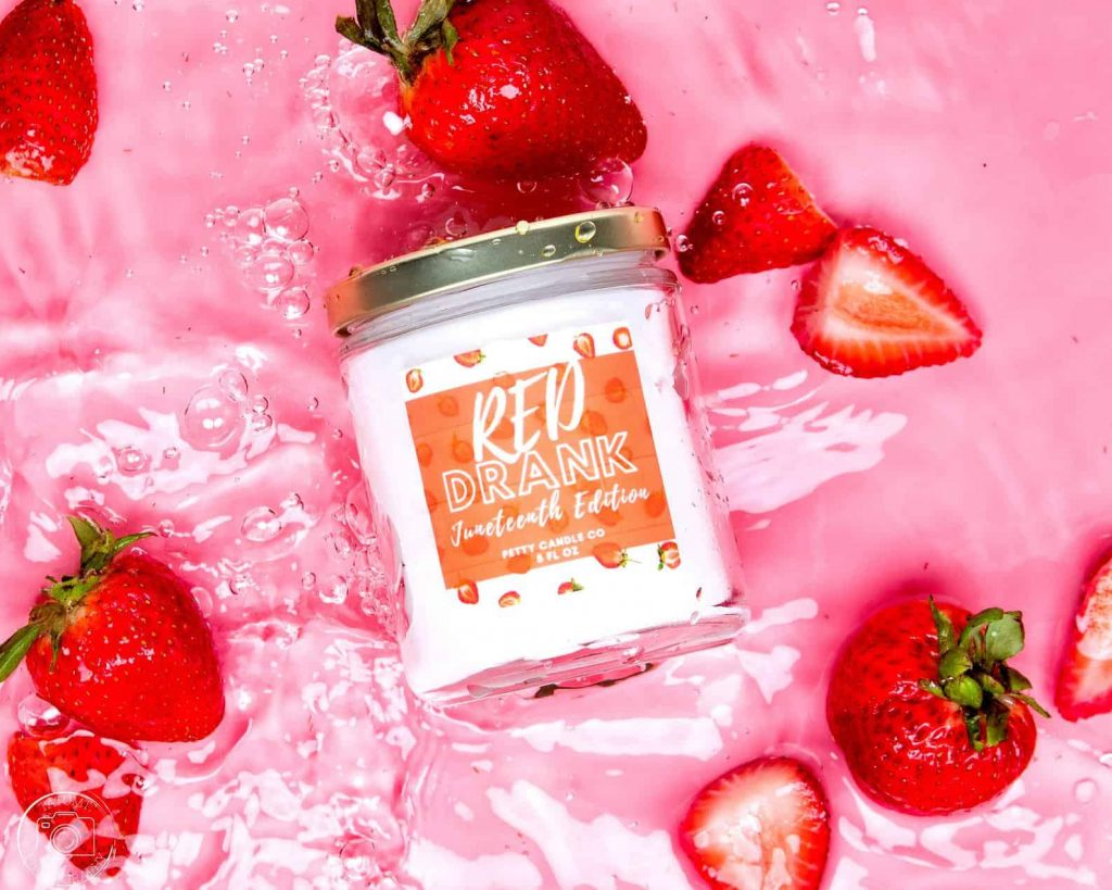 Petty Candle Co. Funny Black-owned candle company Red Drank Juneteenth
