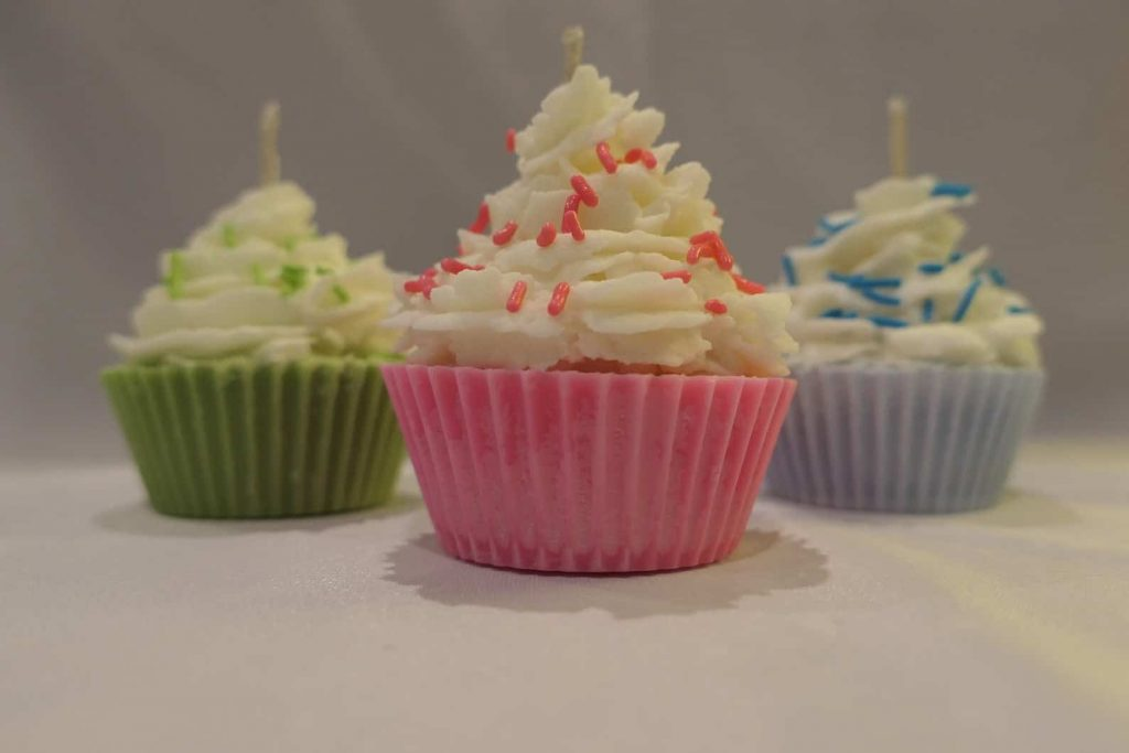 Succulent by Stacey | Cool Shaped Candles in the shape of cupcakes