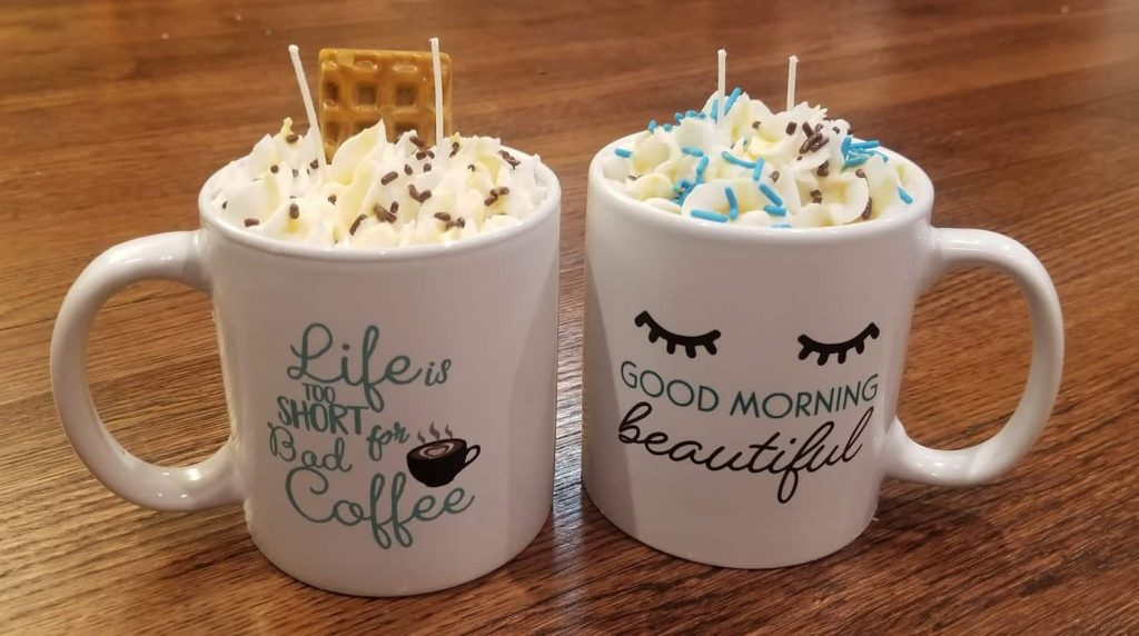 Cool Shaped Candles in the shape of deserts and hot chocolate | Black Owned Etsy Shop