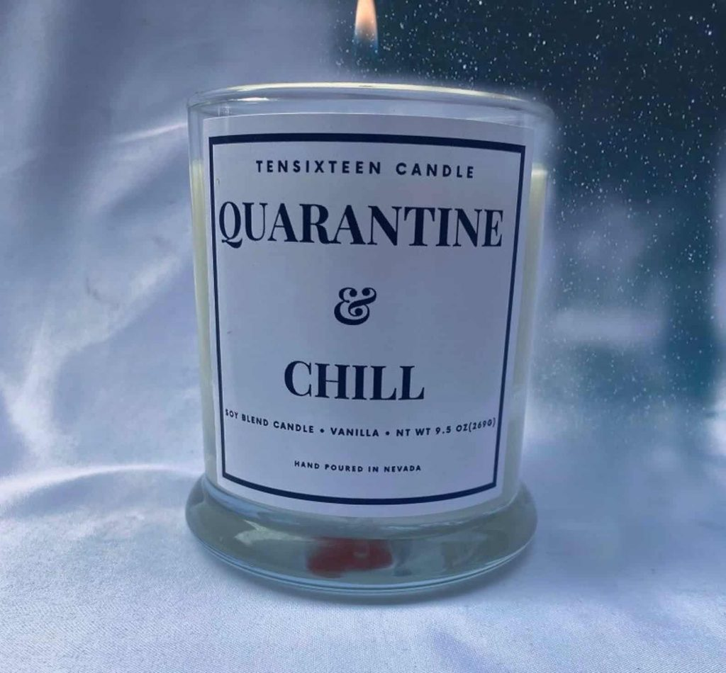 Quarantine and Chill Funny Candles | Black Owned Business