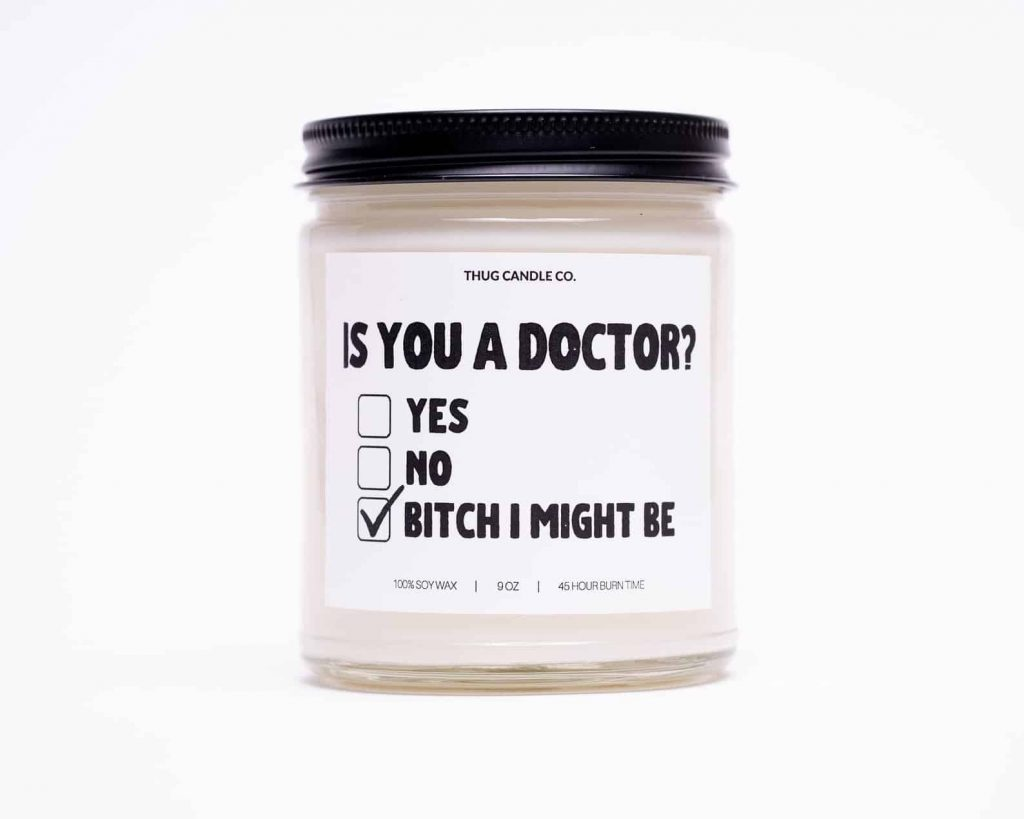 Funny candles: Graduation gift candle | Black Owned Candles