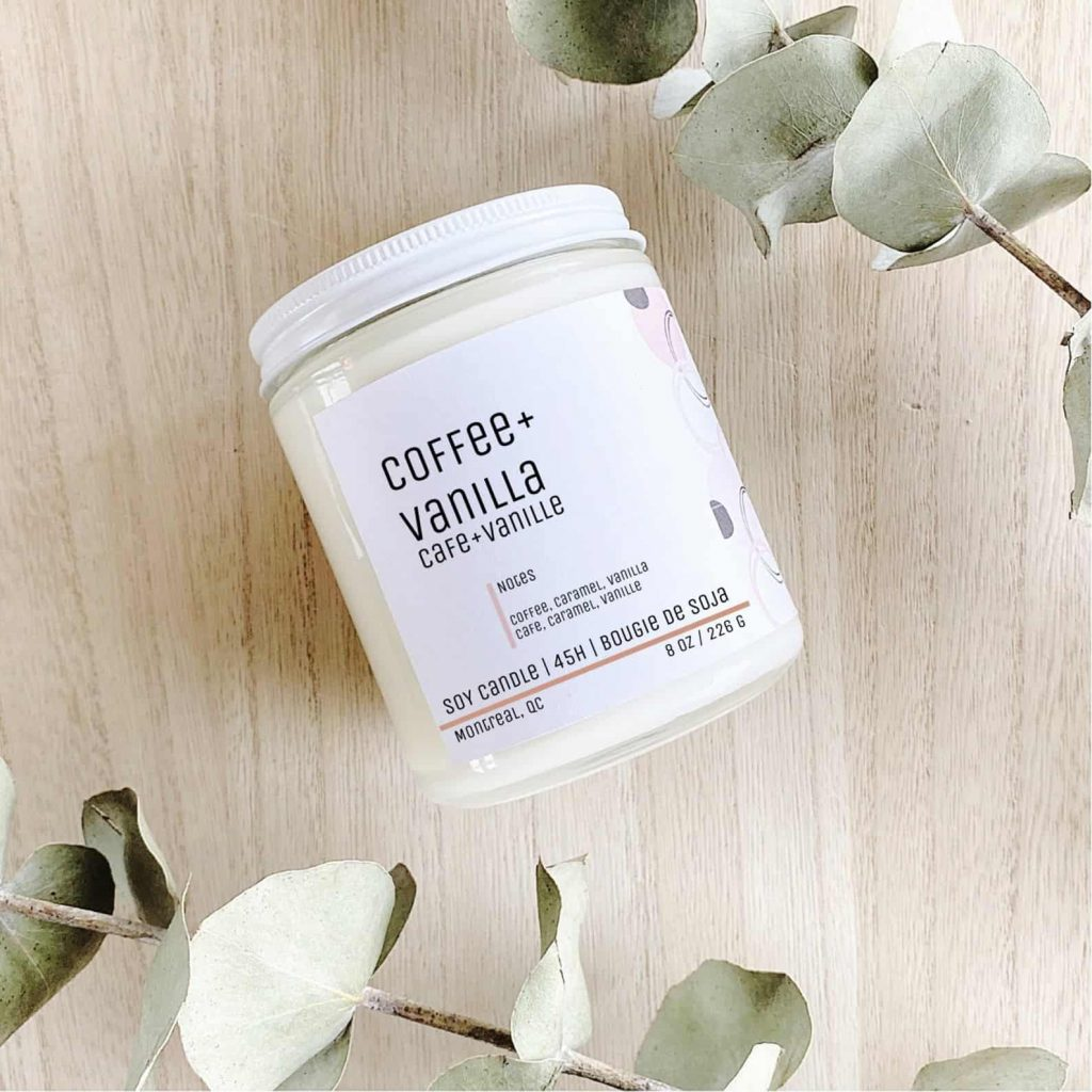 Coffee and Vanilla Scented Black Owned Candles on Etsy