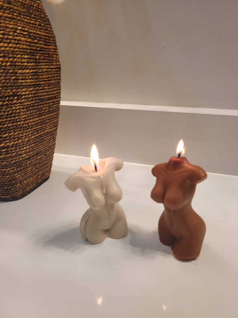 Cool Shaped Candles / Female Torso/ Body Candles | Black Owned