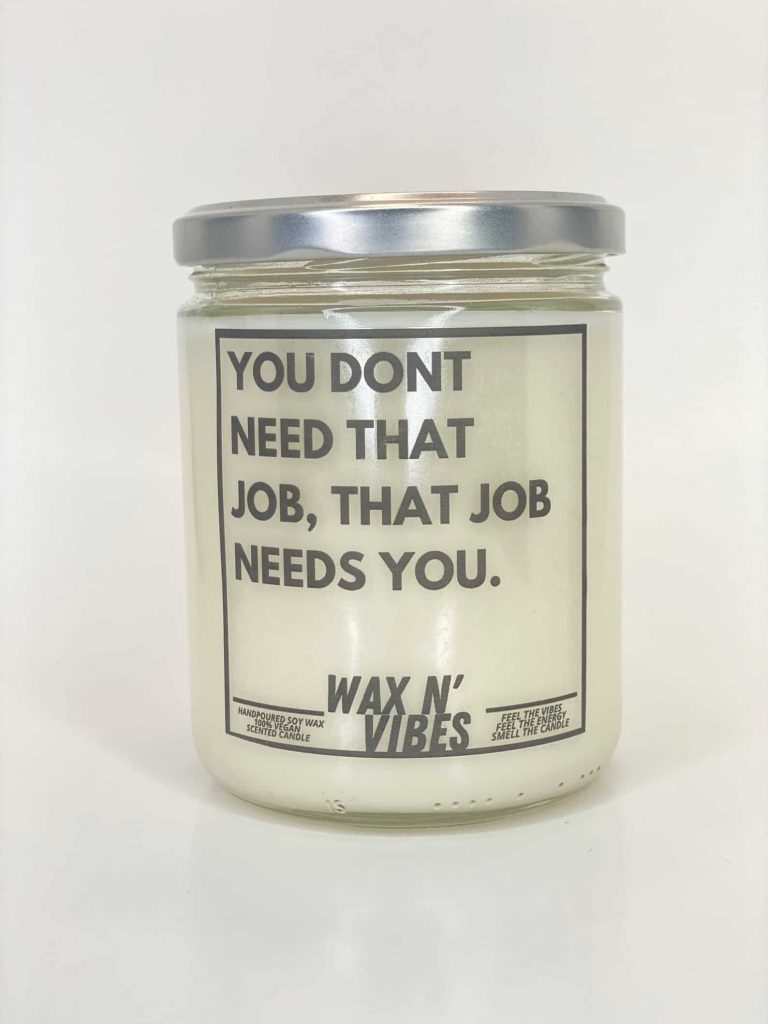 motivational quote/Funny candles | Black Owned Candle Companies