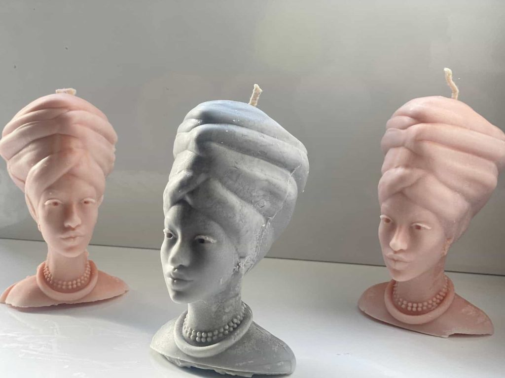 O'Chan Made | Unique Back-owned candles | Black woman with turbans