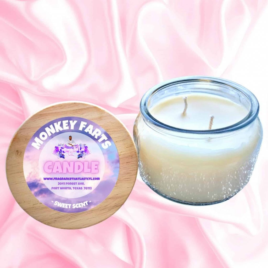 fragranced candle Monkey Farts | Black Owned Candle Company
