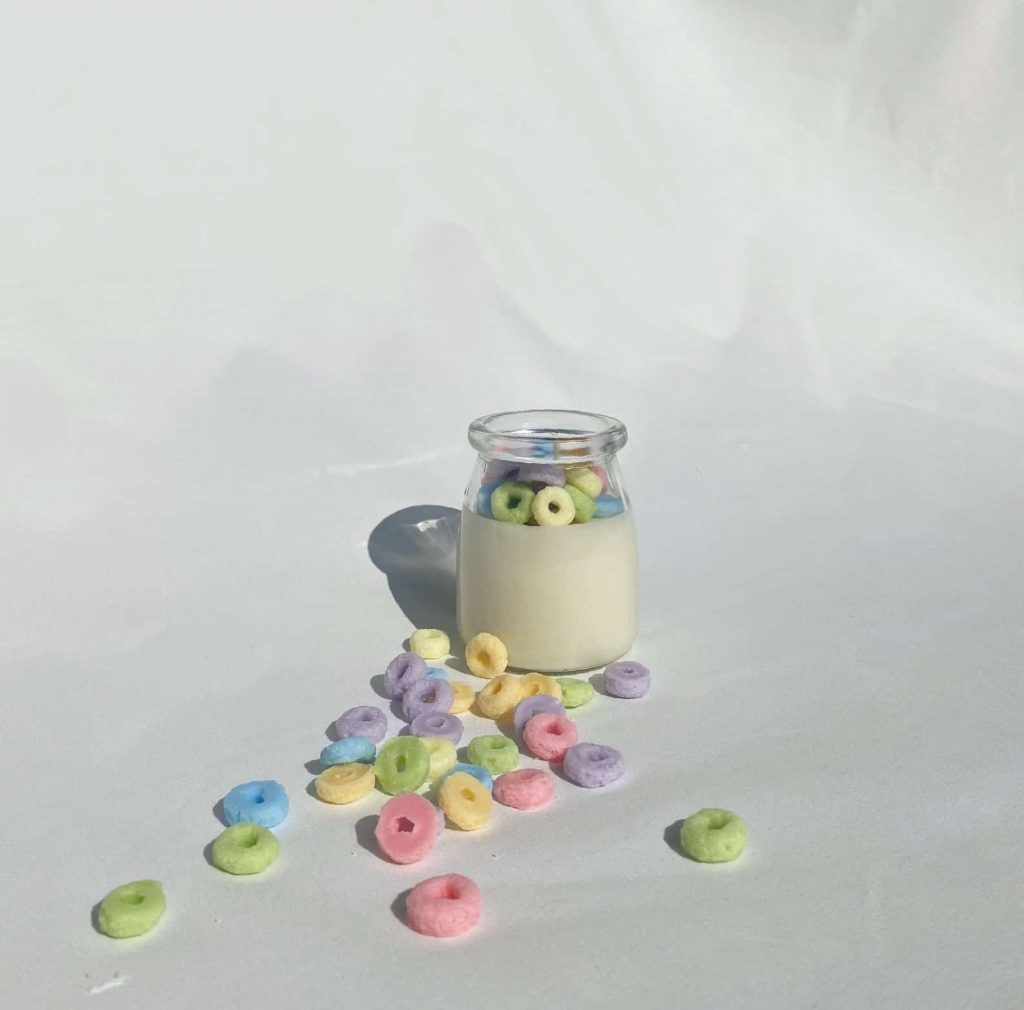 Fruit Loop Cereal Candles | Black Owned Candle Shops on Etsy