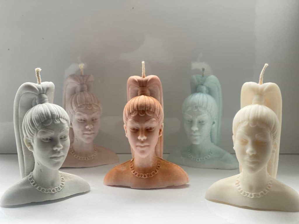 Black woman head candles | Black Owned Candle Companies | O'Chan Made