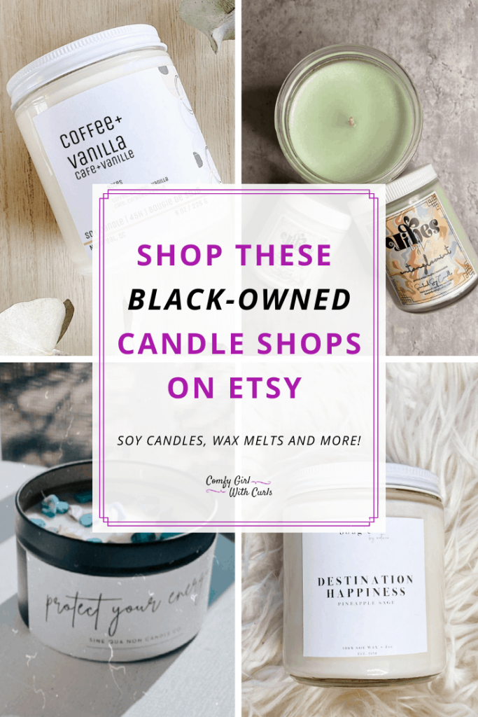 Black Owned Candle Companies Pinterest Pin 1
