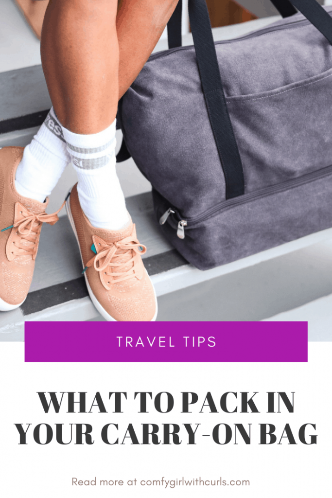 Travel Tips: What to pack in your carry on bag